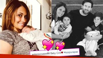La foto más tierna de Antonela Roccuzzo con Ciro, su bebé recién nacido (Fotos: Instagram)