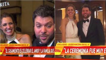 Guido Kaczka, tras casarse con Soledad Rodríguez: Hay algunos a los que nos tiran los papeles