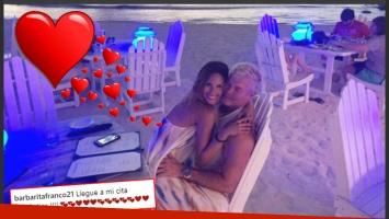 El viaje romántico de Barby Franco con Fernando Burlando en Aruba (Foto: Instagram)