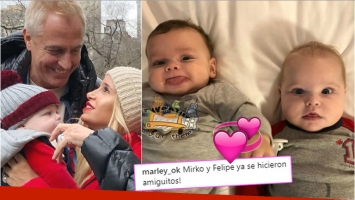 Los hijos de Marley y Flor Peña, juntos en Montreal (Fotos: Instagram)