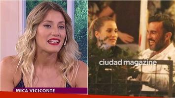Mica Viciconte, sobre el inicio de su romance con Fabián Cubero: Estuvimos cuatro meses encerrados en mi departamento