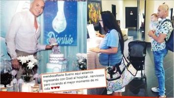 La foto de Flavio Mendoza ingresando al hospital con la madre subrogada (Foto: revista Gente e Instagram)