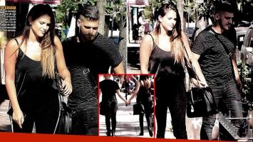 Barbie Vélez y Lucas Rodríguez, enamorados por las calles de Palermo (Fotos: revista Paparazzi)