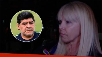 La reacción de Claudia Villafañe cuando le preguntaron si quiere ver preso a Diego Maradona