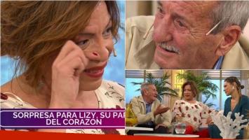 El padre de Lizy Tagliani la sorprendió en Pampita Online: el emotivo encuentro