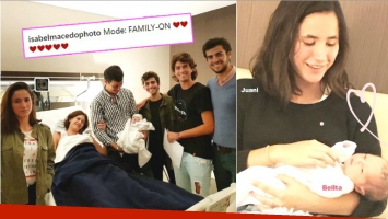 La foto de la primera hija de Isabel Macedo y Urtubey junto a sus hermanos (Fotos: Instagram y Captura de Instagram Stories)