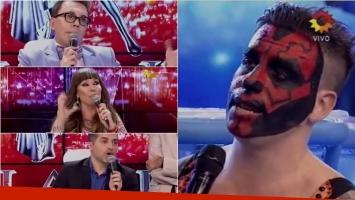 Fede Bal se cruzó en ShowMatch con Moria, Polino y De Brito. Foto: Captura