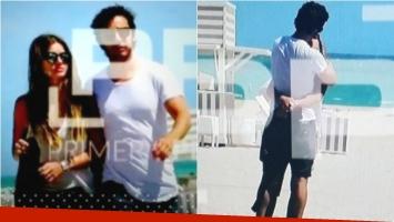 La China Suárez y Benjamín Vicuña, a los besos en Miami (Fotos: Captura Primer Plano)