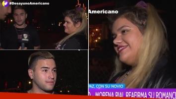 Morena Rial y su primera nota en TV junto a su novio (Foto: web)