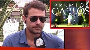El enojo de Pedro Alfonso tras la entrega de los Premios Carlos 2017 (Foto: web)