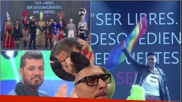 Jey Mammón emocionó a todos con una performance que celebró en ShowMatch la diversidad sexual