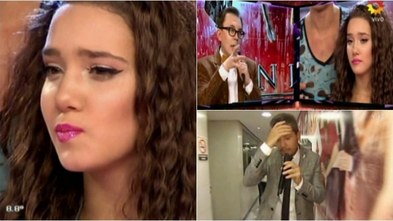 La tristeza de Ángela Torres por el bajo puntaje que se llevó en la salsa de tres de ShowMatch. Foto: Captura