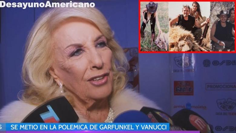 Mirtha Legrand y una polémica declaración tras las fotos de Vannucci y Garfunkel cazando animales. Foto: web.