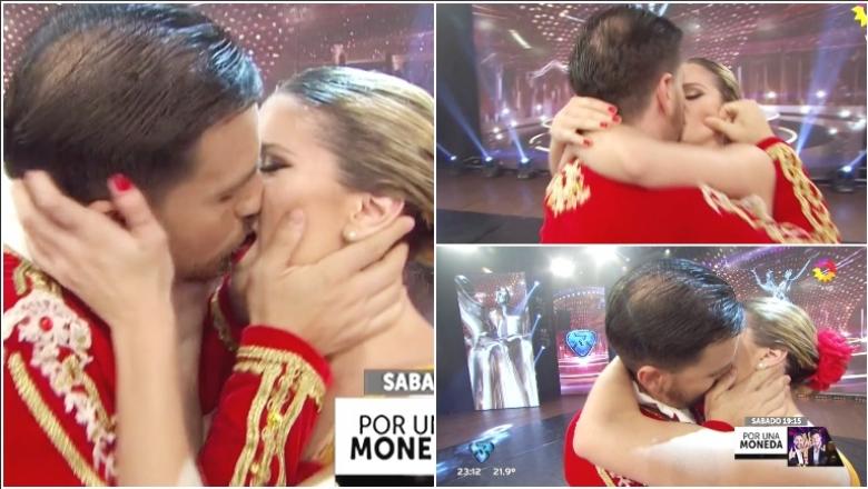 El tremendo beso de Fede Bal a Laurita Fernández tras su debut en el clásico en ShowMatch