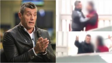 El violento episodio de Sergio Goycochea en la calle. Foto: Captura/ Web