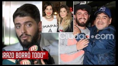 Diego Junior contó cómo se gestó su encuentro con Maradona