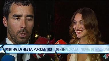 Nacho Viale y Lucía Pedraza en el cumpleaños de Mirtha (Foto: web)