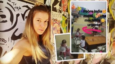 El divertido blooper de la hija de Dallys Ferreira en el jardín
