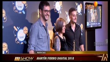#MartínFierroDigital2018: Ciudad Magazine ganó la terna mejor Plataforma Digital TV