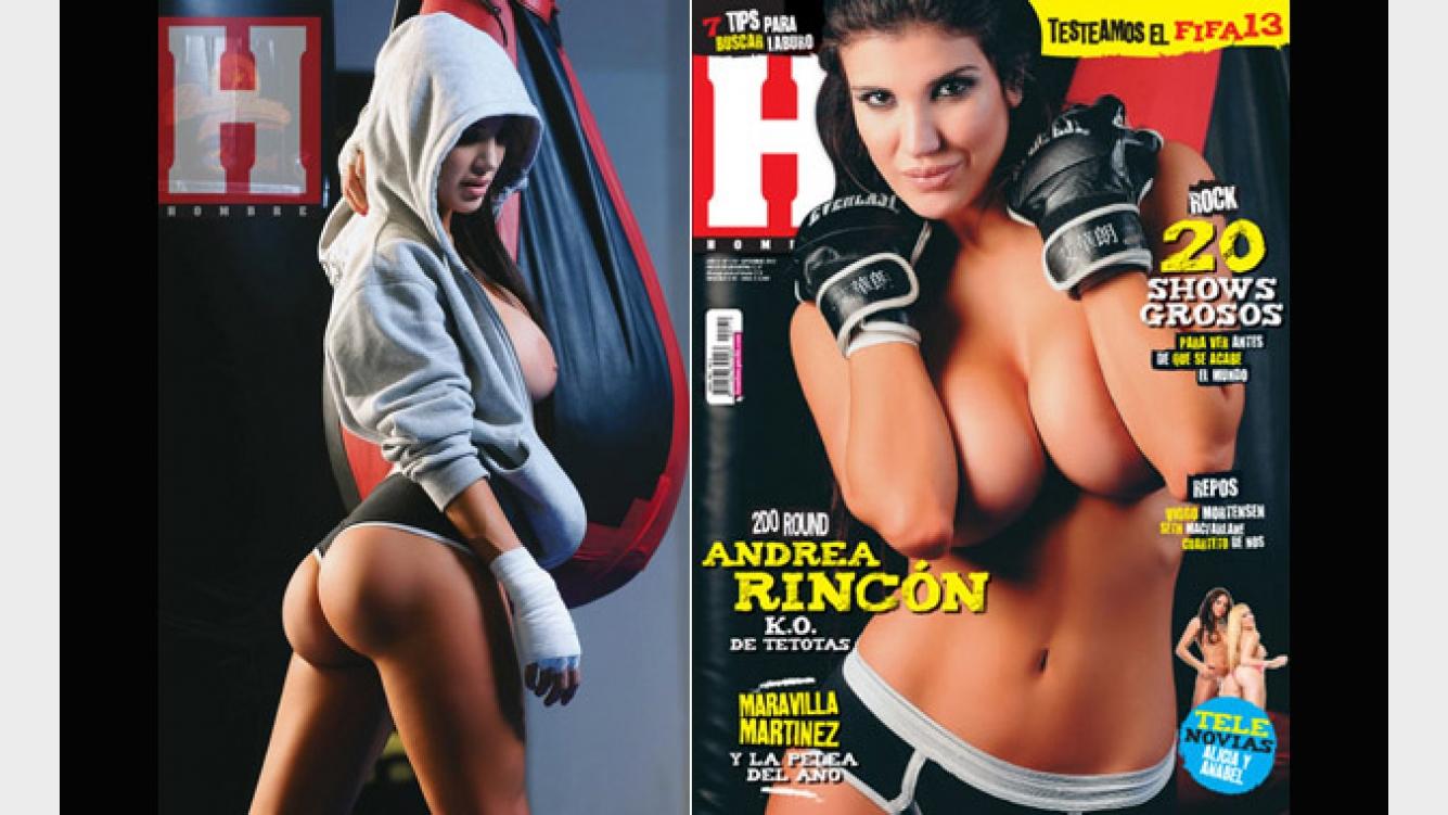 Andrea Rincon Sexy andrea rincón, tapa de la revista hombre de septiembre