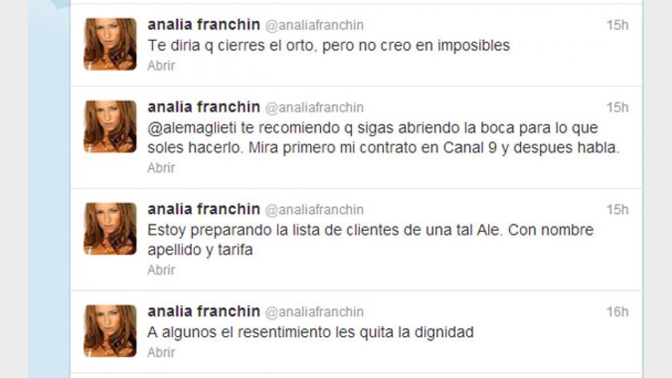 Feroz Cruce Entre Analía Franchín Y Alejandra Maglietti