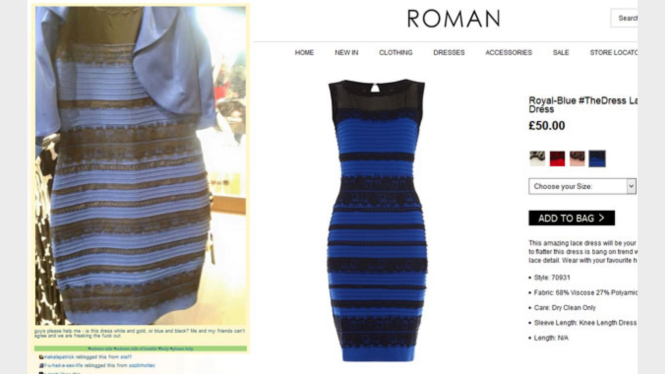 Foto vestido azul o blanco