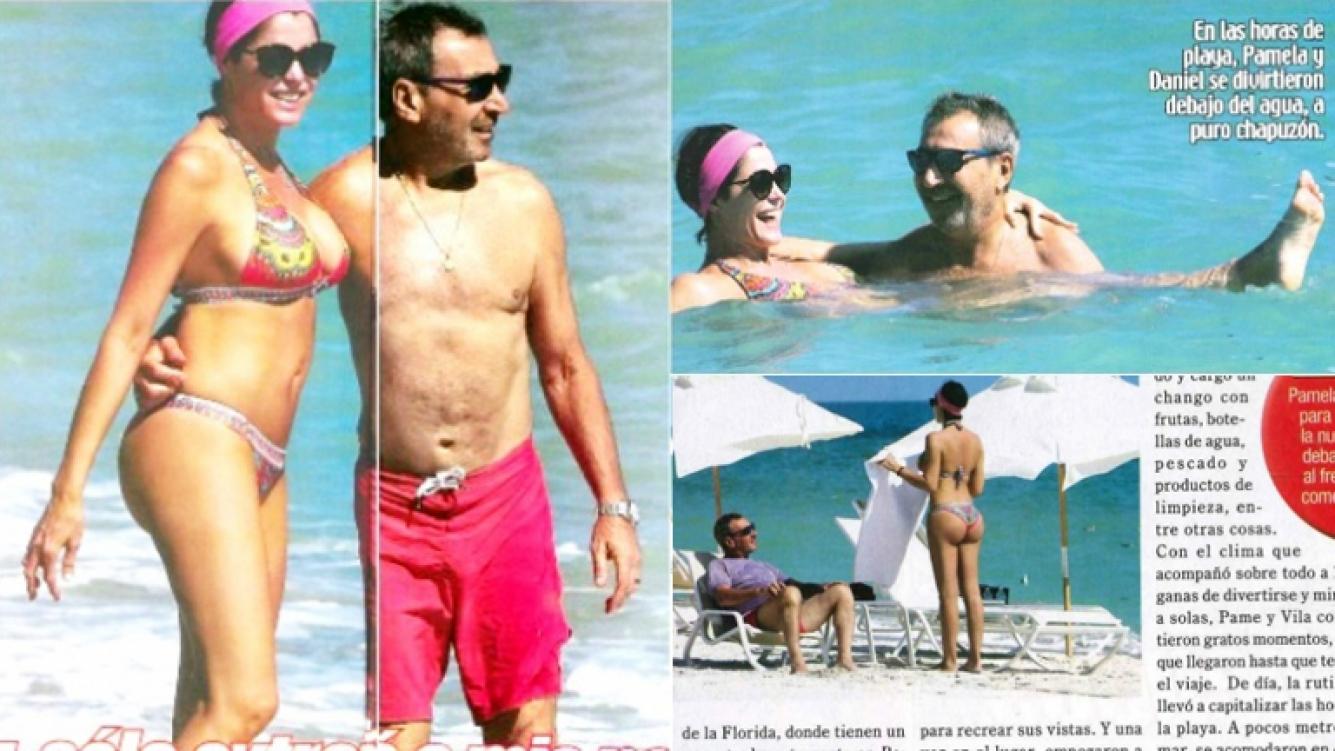 7fc6655c2313 Pamela David y Daniel Vila, vacaciones en Miami: chapuzón al agua y ...