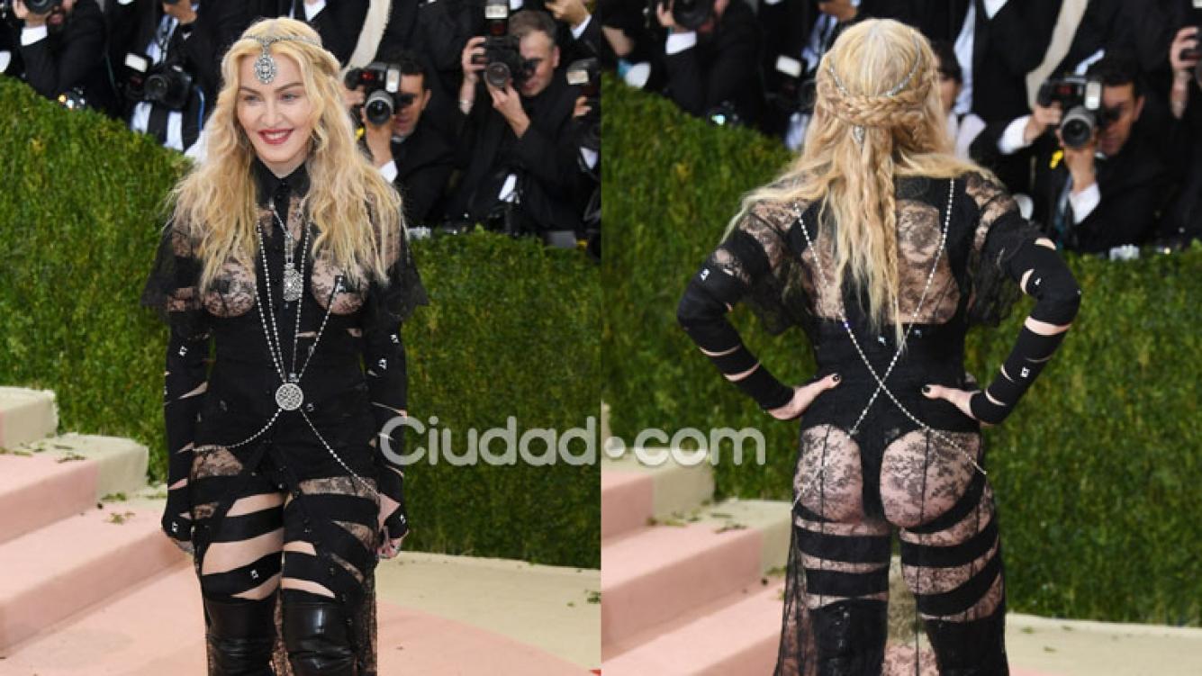 5b5caf6b70 Madonna impactó con su look en la Gala del Met (Fotos: GrosbyGroup).