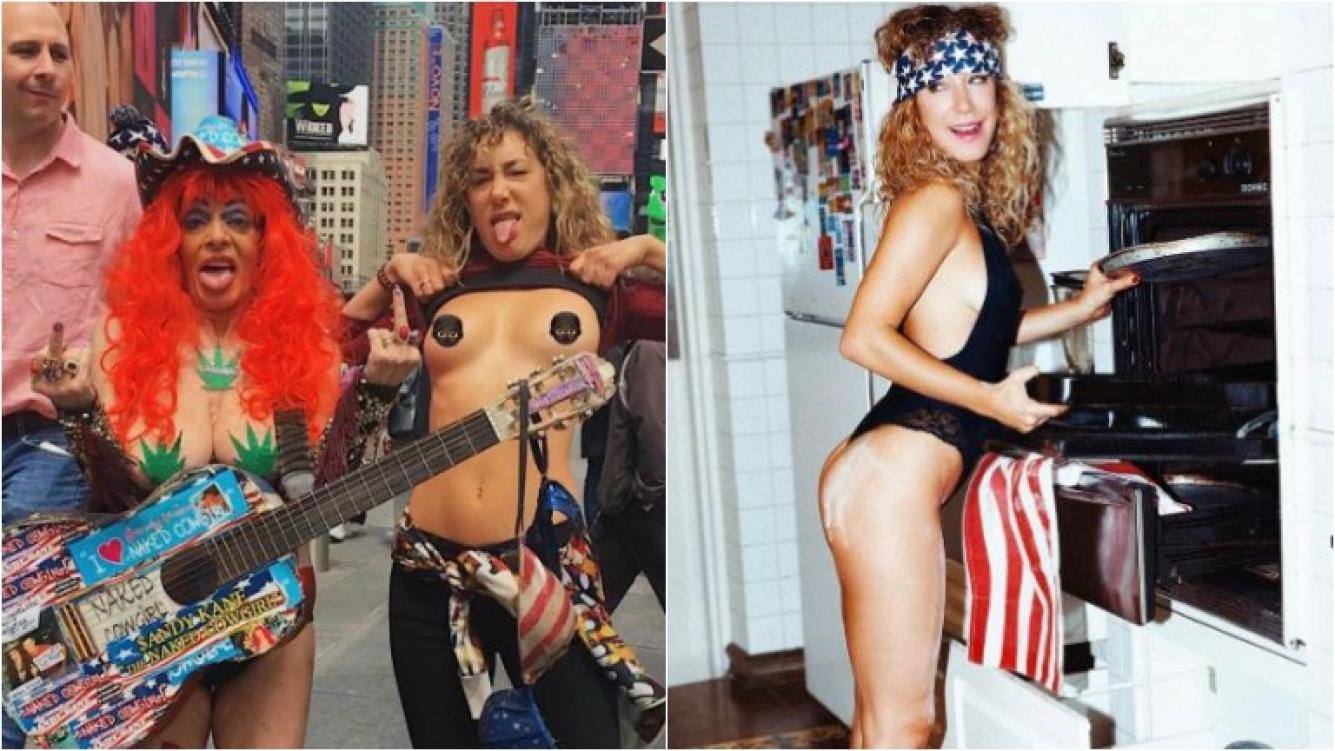 El Topless De Anita Pauls En Times Square Hoy Es Viernes Y Todo
