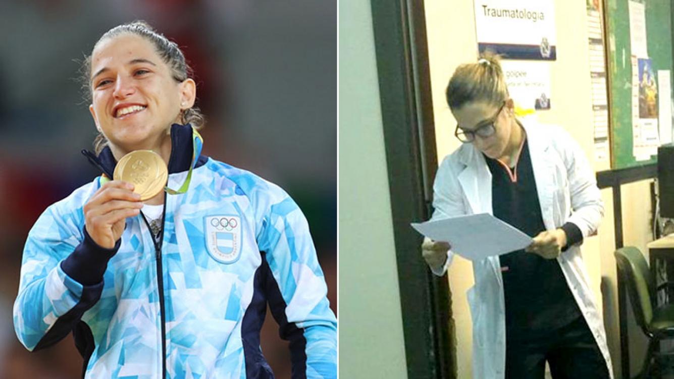 Foto viral! La campeona olímpica de yudo, Paula Pareto, doctora en ...