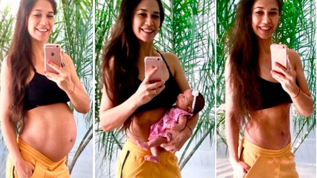 0a66d8d17 Mariana de Melo mostró el cambio de su cuerpo en el postparto y ...