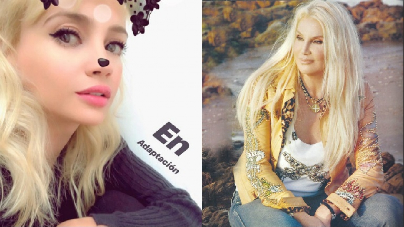 El cambio de look de Celeste Cid para interpretar a Susana Giménez en la serie de Carlos Monzón (Fotos: Captura de Instagram Stories y Web)
