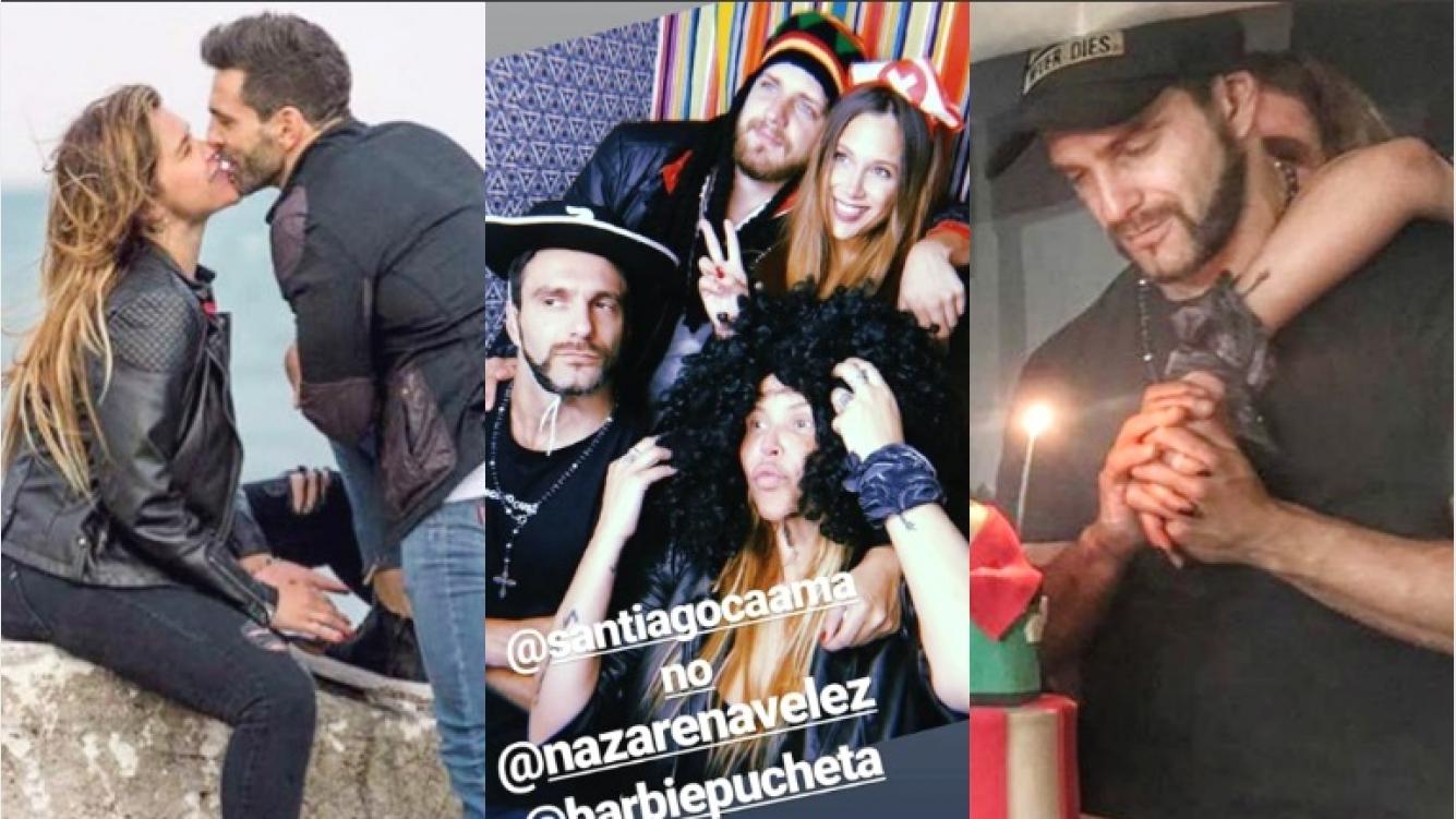 El festejo de cumpleaños de Santiago Caamaño, el novio de Nazarena Vélez (Fotos: Instagram y Capturas de Instagram Stories)
