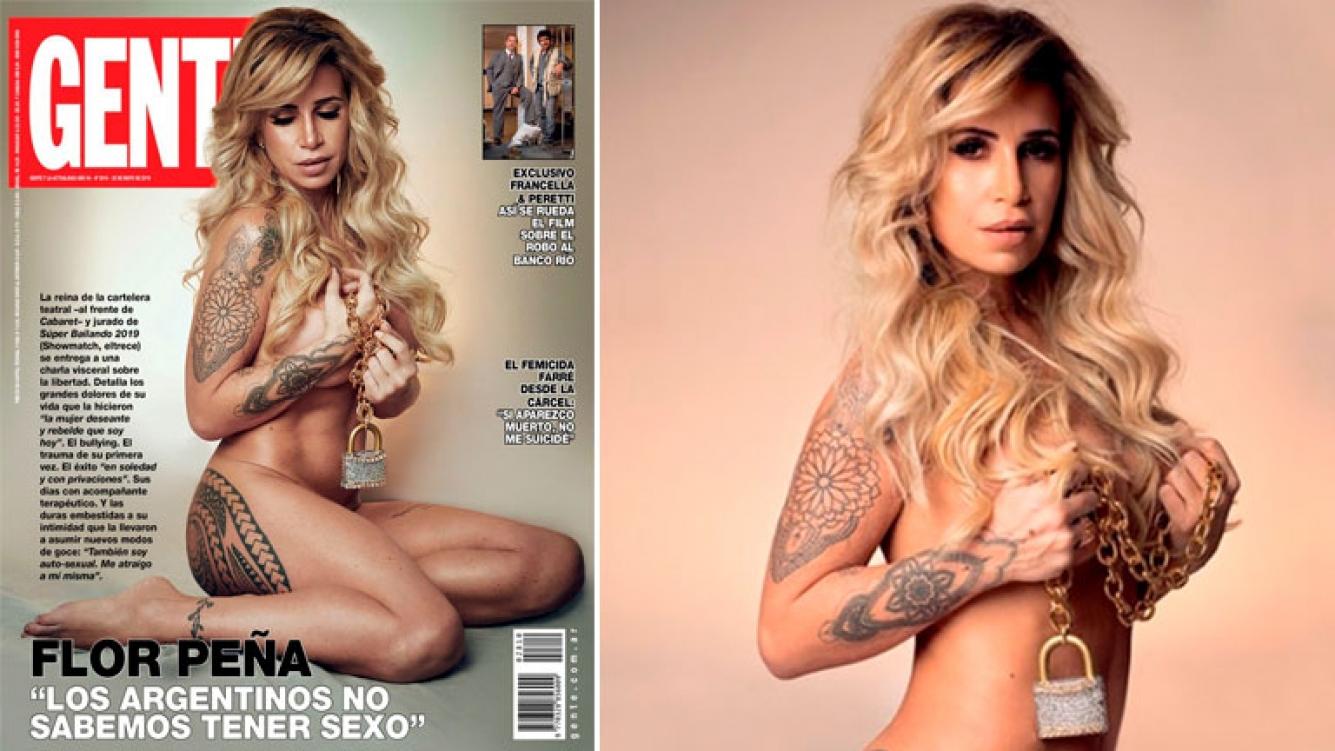 Alma Cero Fotos Desnuda florencia peña, al desnudo en la tapa de la revista gente