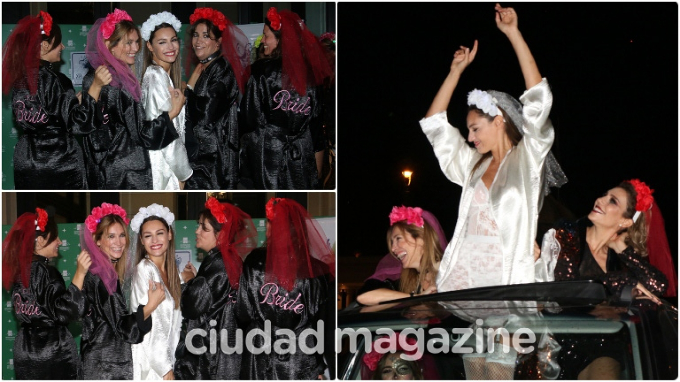 Las fotos de la despedida de soltera de Pampita (Fotos: Movilpress)