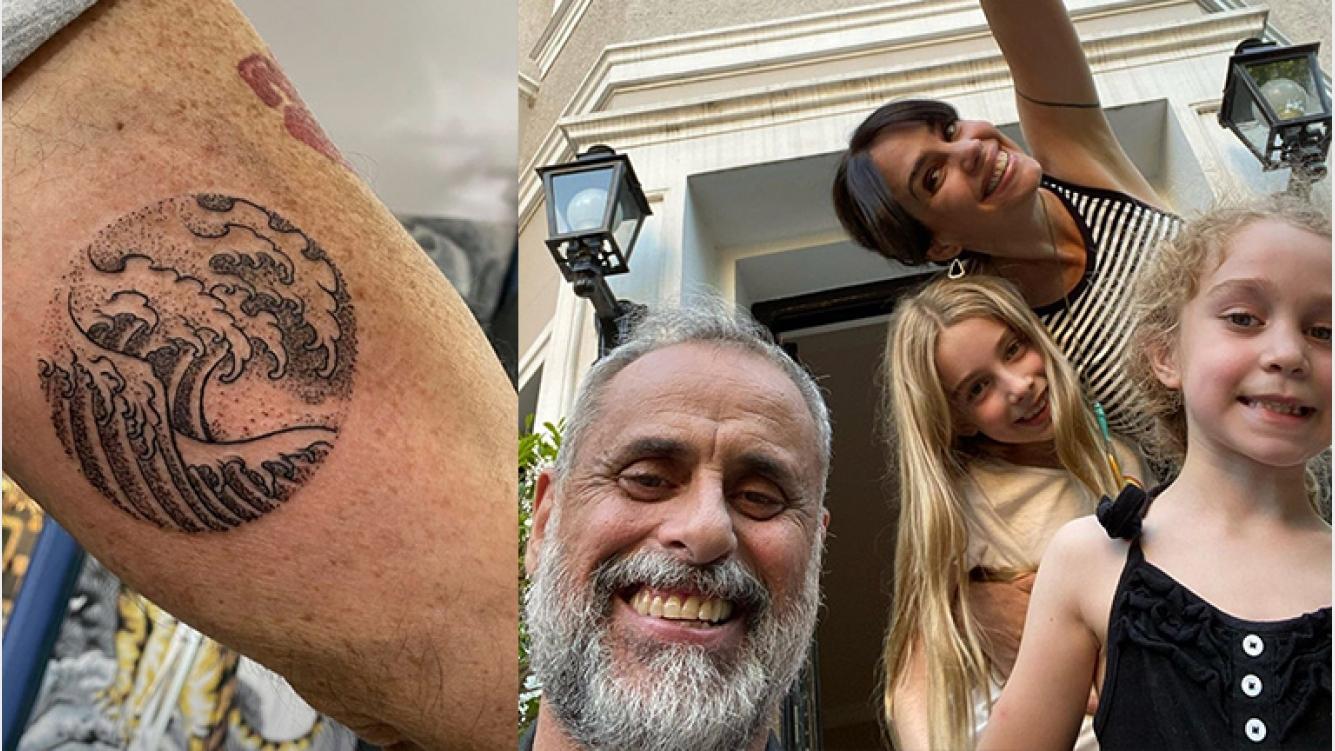 """Jorge Rial le dedicó un tatuaje a Violeta y Emma, las hijas de Romina Pereiro: """"Salió otro"""""""