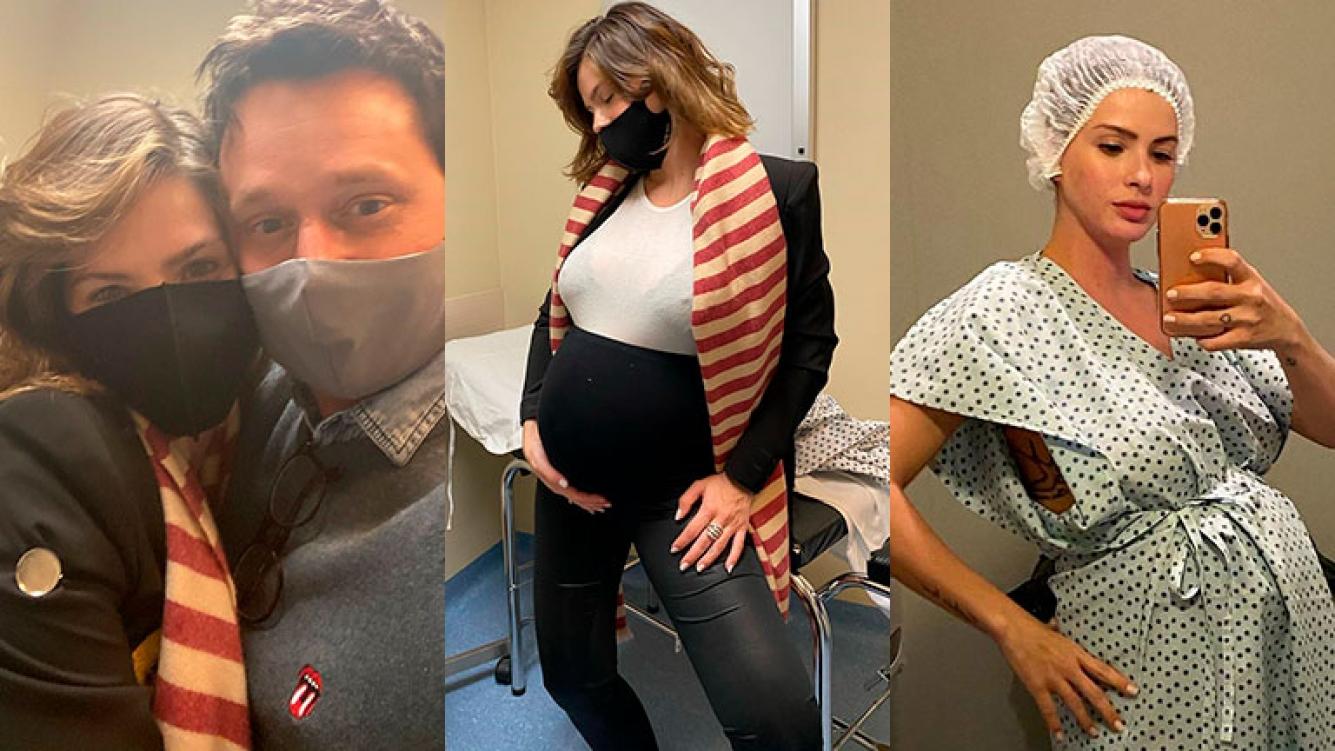 China Suárez mostró las fotos de los momentos previos al nacimiento de Amancio: amor con Vicuña, look chic y poses divertidas