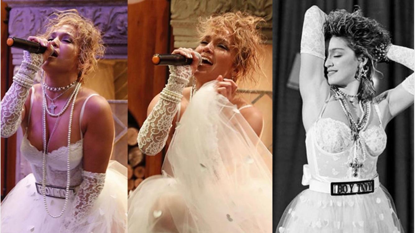 El monumental vestido de novia con el que Jennifer Lopez