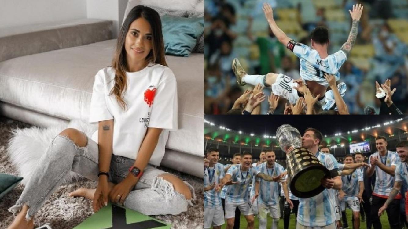 El conmovedor mensaje de Antonela Roccuzzo a Lionel Messi por consagrarse campeón de la Copa América (Fotos: Instagram)