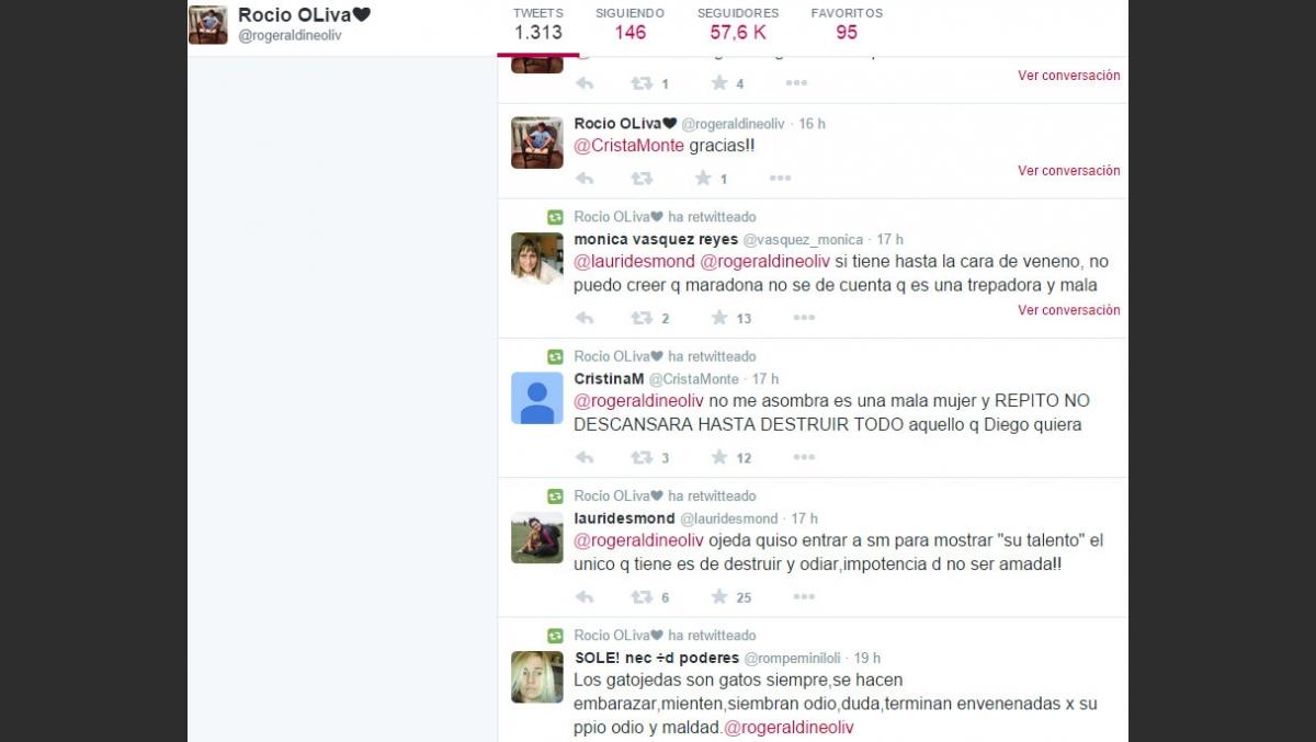 Sola Y Despechada Los Furiosos Retweets De Rocio Oliva Contra Ojeda Tras Su Crisis Con Maradona Ciudad Magazine