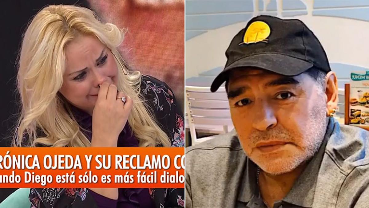 """Resultado de imagen para Verónica Ojeda se quebró al hablar de la salud de Dieguito: """"El miedo de Maradona era que fuera autista"""""""