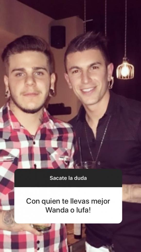 El hermano menor de Mauro Icardi bancó a Ivana y apuntó contra Wanda Nara a pura ironía en Instagram Stories