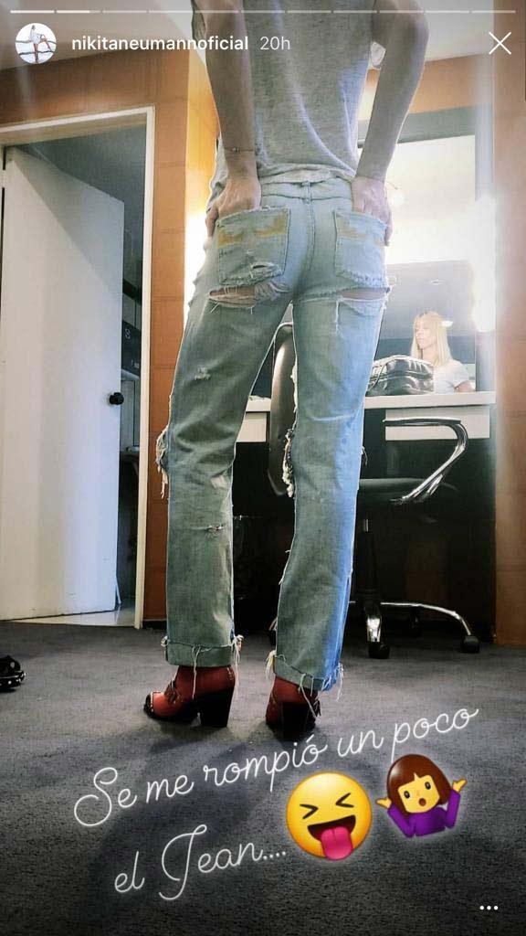 """Nicole Neumann se animó al 'hot jean': """"Se me rompió un poco"""""""