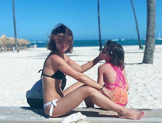 """Las vacaciones de Agustina Cherri con sus hijos y su novio en República Dominicana: """"Cuando llegás al paraíso"""""""