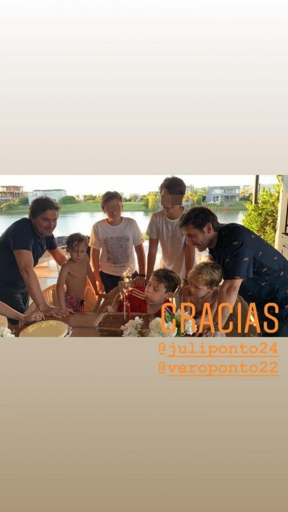 """Benjamín Vicuña le celebró el cumpleaños a su hijo Bautista junto a sus hermanos: """"Otra vuelta al sol"""""""