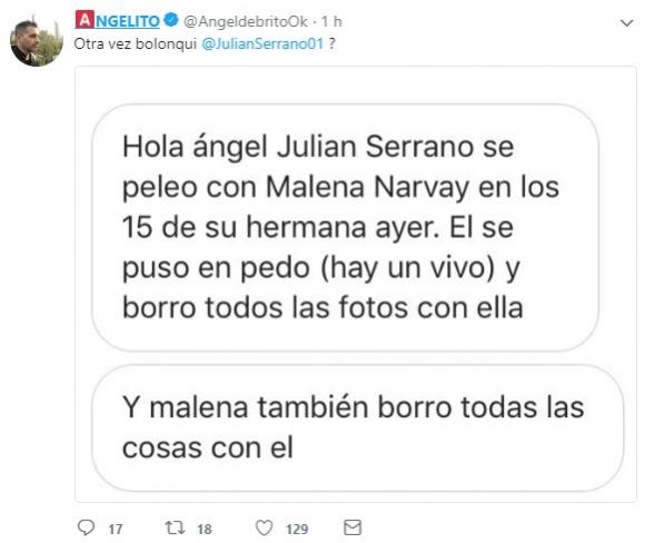 ¿QUÉ PASÓ? Crisis entre Malena Narvay y Julián Serrano