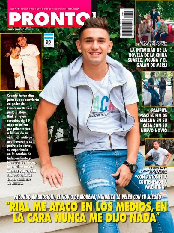 """Fuerte declaración del novio de Morena Rial: """"Rial me atacó en los medios, en la cara nunca me dijo nada"""""""