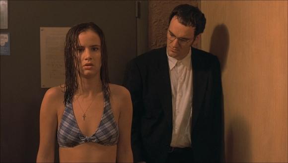 Juliette Lewis junto a Quentin Tarantino en
