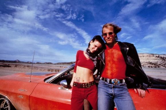 Juliette Lewis junto a Woody Harrelson, en