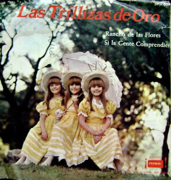 Las Trillizas de Oro cuando eran tres nenas. (Foto: Web)